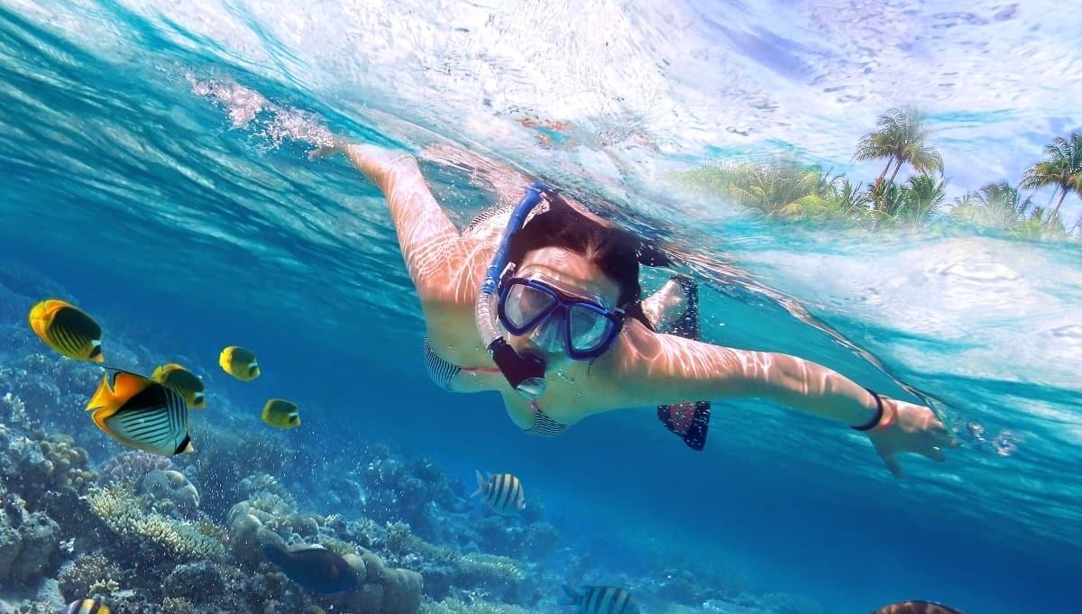 kits de buceo con snorkel para el nado